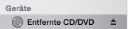Entfernte CD/DVD