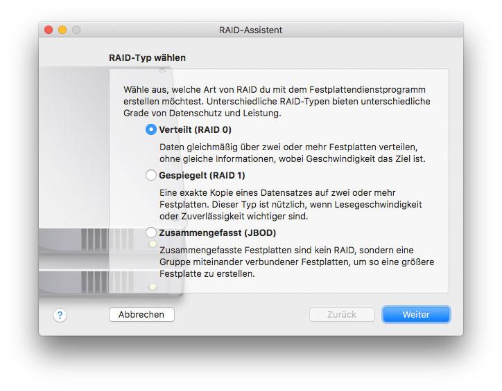 RAID am Mac erstellen
