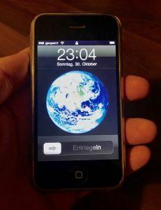 Ein original iPhone von 2007 – auch 2016 noch funktionsfähig.